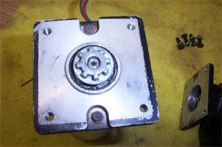 Motor spline installed