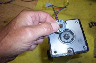 Motor spline removed